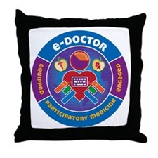 eDoctor Circle Throw Pillow