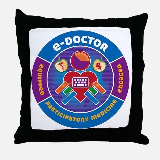 eDoctor Circle Throw Pillow