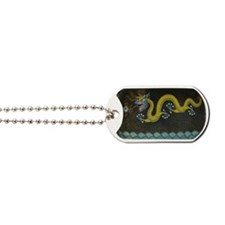 BRONZE_ENAMEL_DRAGON_TRAY-laptop-skin Dog Tags