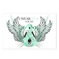 I Wear Teal for my Mom Postcards (Package of 8)