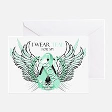 I Wear Teal for my Mom Greeting Card