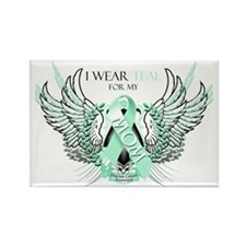 I Wear Teal for my Mom Rectangle Magnet
