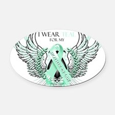 I Wear Teal for my Mother in Law Oval Car Magnet