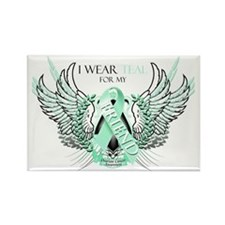I Wear Teal for my Friend Rectangle Magnet