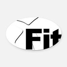 X Fit Oval Car Magnet