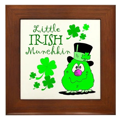 Little Irish Munchkin Framed Tile