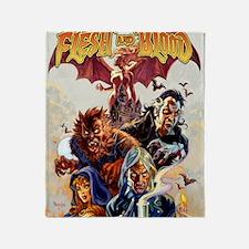 FLESH-BLOOD_poster1 Throw Blanket