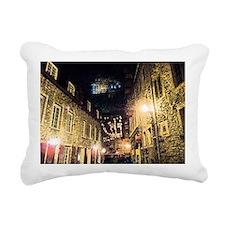 quebec_street_redbubble Rectangular Canvas Pillow