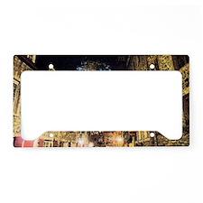 quebec_street_redbubble License Plate Holder