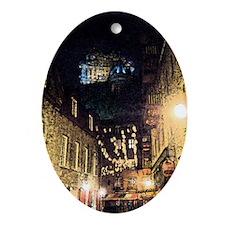 quebec_street_kindle Oval Ornament