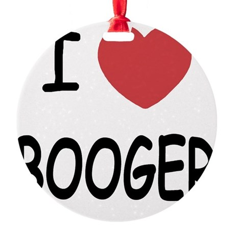 BOOGER Round Ornament