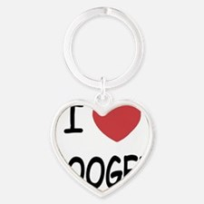 BOOGER Heart Keychain