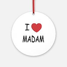 MADAM Round Ornament