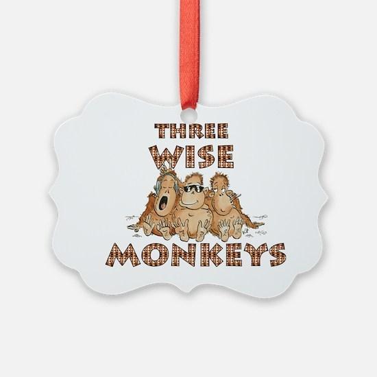 Three Wise Monkeys Ornament