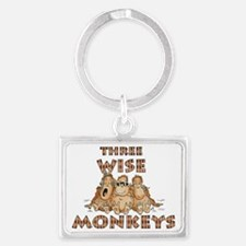 Three Wise Monkeys Landscape Keychain