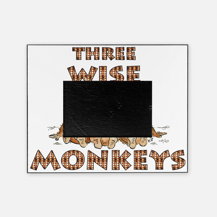 Three Wise Monkeys Picture Frame