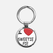 SWEETIE_PIE Round Keychain