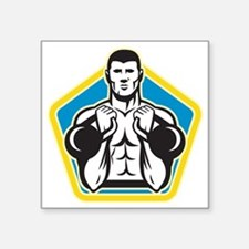 "Kettlebell Exercise Weight  Square Sticker 3"" x 3"""