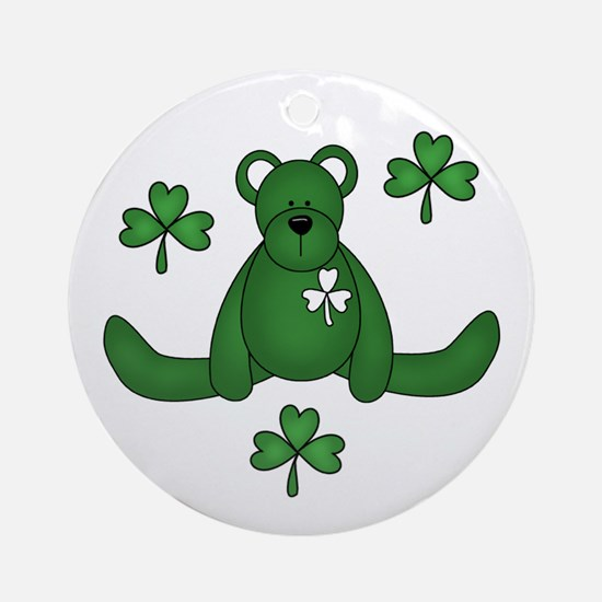 St. Paddy's Day Bear Ornament (Round)