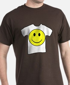 Happy Face T in a T in 8 Dark Colors T-Shirt