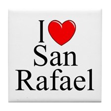 """I Love San Rafael"" Tile Coaster"