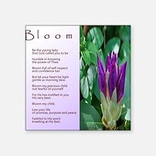 "Bloom love note final Square Sticker 3"" x 3"""