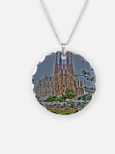 Barcelona Necklace Circle Charm