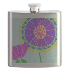 Colorful Flower Flask
