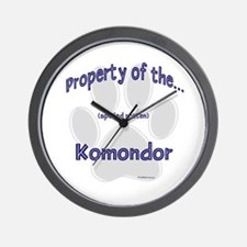 Komondor Property Wall Clock