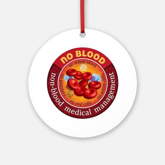 No Blood Circle Round Ornament