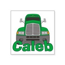 "caleb-b-trucker Square Sticker 3"" x 3"""