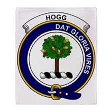 Hogg (or Hog) Clan Badge Throw Blanket