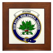 Irvine Clan Badge Framed Tile