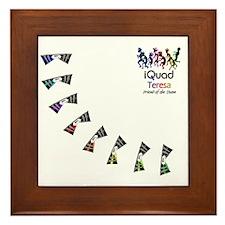 iquad08_FRIENDshirt-front_teresa Framed Tile