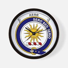 Kerr Clan Badge Wall Clock