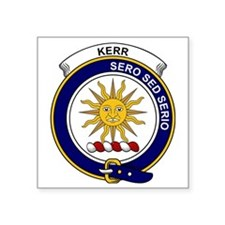 "Kerr Clan Badge Square Sticker 3"" x 3"""