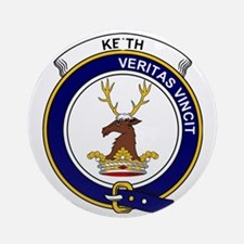 Keith Clan Badge Round Ornament