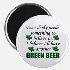 St. Patrick's Day Green Beer Refrigerator Magnet