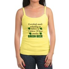 Green Beer Junior Spaghetti Tank Top