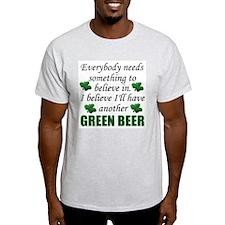 Green Beer Ash Grey T-Shirt
