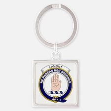Lamont Clan Badge Square Keychain