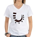 Tribal Hook Women's V-Neck T-Shirt