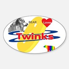 Bear Loves Twinks Decal