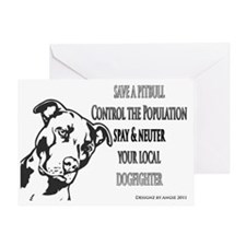 pitbull-spay-fighter Greeting Card