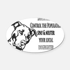pitbull-spay-fighter Oval Car Magnet