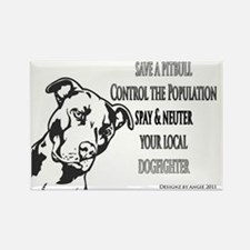 pitbull-spay-fighter Rectangle Magnet