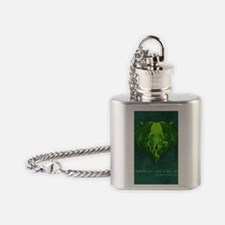 Cthulhu_vday_FRONT Flask Necklace