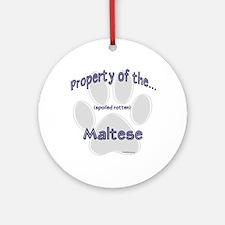 Maltese Property Ornament (Round)