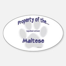 Maltese Property Oval Decal
