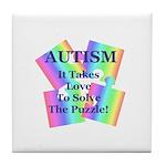Autism #5 Tile Coaster